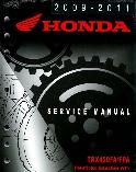 2009 - 2014 Honda TRX420FA & TRX420FPA FourTrax Rancher AT Factory Service Manual