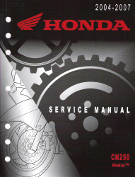 2004 - 2007 Honda CN250 Helix Factory Service Repair Workshop Manual
