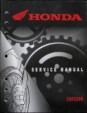 2004-2009 Honda CRF250R Factory Service Repair Workshop Manual