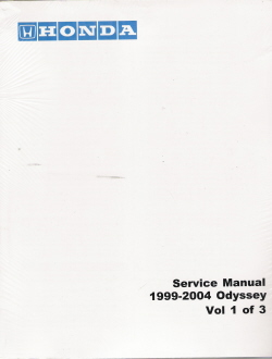 1999 - 2004 Honda Odyssey Factory Service Manual - 3 Volume Set