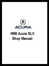 1998 Acura SLX Shop Manual