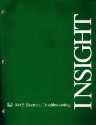 2000 - 2005 Honda Insight Electrical Troubleshooting Manual