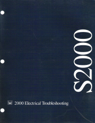2000 Honda S2000 Factory Electrical Troubleshooting Manual