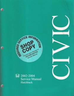 2002 - 2004 Honda Civic Hatchback Factory Service Manual