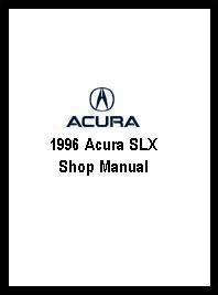 1996 Acura SLX Shop Manual