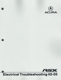 2002 - 2005 Acura RSX Electrical Troubleshooting Manual