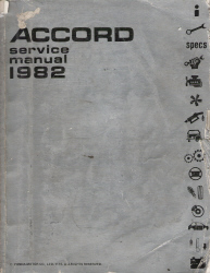 1982 Honda Accord Factory Service Manual