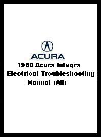 1986 Acura Integra Electrical Troubleshooting Manual (All)