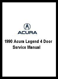 1990 Acura Legend 4 Door Service Manual