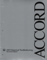 2003 - 2005 Honda Accord Electrical Troubleshooting Manual
