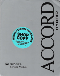 2005 - 2006 Honda Accord Hybrid Factory Service Manual
