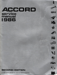 1983 Honda Accord Factory Service Manual