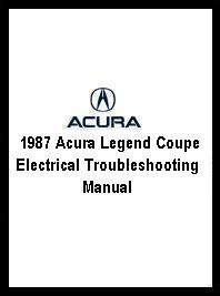 1987 Acura Legend Coupe Electrical Troubleshooting Manual
