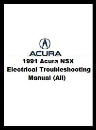 1991 Acura NSX Electrical Troubleshooting Manual (All)