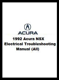 1992 Acura NSX Electrical Troubleshooting Manual (All)