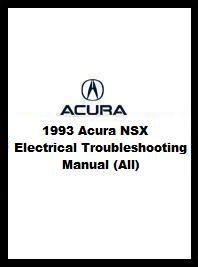1993 Acura NSX Electrical Troubleshooting Manual (All)