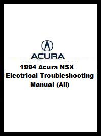 1994 Acura NSX Electrical Troubleshooting Manual (All)