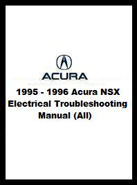 1995 - 1996 Acura NSX Electrical Troubleshooting Manual (All)