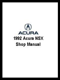 1992 Acura NSX Shop Manual