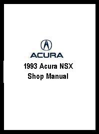 1993 Acura NSX Shop Manual