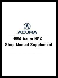 1996 Acura NSX Shop Manual Supplement