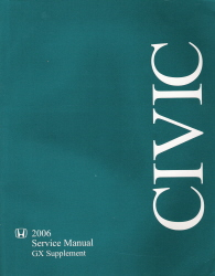 2006 Honda Civic GX Service Manual Supplement