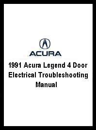 1991 Acura Legend 4 Door Electrical Troubleshooting Manual