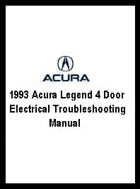 1993 Acura Legend 4 Door Electrical Troubleshooting Manual