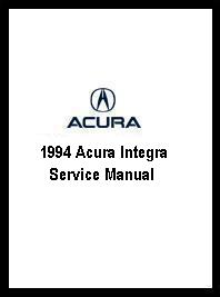 1994 Acura Integra Service Manual
