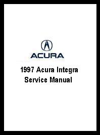 1997 Acura Integra Service Manual - Volume 2 Only