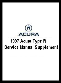 1997 Acura Type R Service Manual Supplement