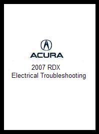 2007 Acura RDX Electrical Troubleshooting Manual