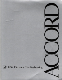 1996 Honda Accord Electrical Troubleshooting Manual