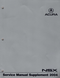 2004 Acura NSX Service Manual Supplement