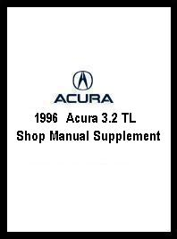 1996  Acura 3.2 TL Shop Manual Supplement