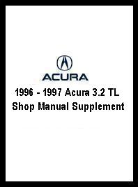 1996 - 1997 Acura 3.2 TL Shop Manual Supplement