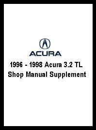1996 - 1998 Acura 3.2 TL Shop Manual Supplement