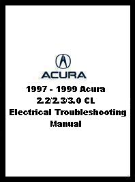 1997 - 1999 Acura 2.2/2.3/3.0 CL Electrical Troubleshooting Manual