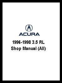 1996 - 1998 3.5 RL Shop Manual (All)