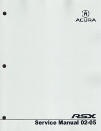 2002 - 2005  Acura RSX Service Manual