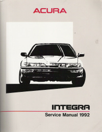 1992 Acura Integra Service Manual