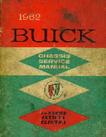 1962 Buick Chassis Service manual Le Sabre, Invicta and Electra