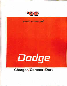 1968 Dodge Dart, Coronet, Charger Body, Chassis & Drivetrain Shop Manual