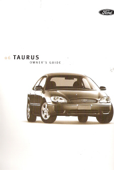2006 Ford Taurus Owners Manual with Case