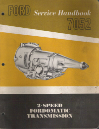 1961 Ford 2-Speed Fordomatic Transmission Service Handbook 7052