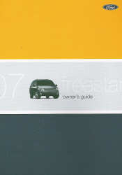 2007 Ford Freestar Owner's Manual with Case