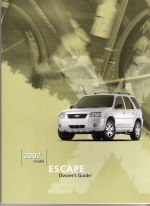 2007 Ford Escape Owner's Manual with Case