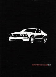 2007 Ford Mustang Owner's Manual with Case