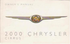 2000 Chrysler Cirrus Factory Owner's Manual