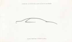 1995 Chrysler Concorde Owner's Manual